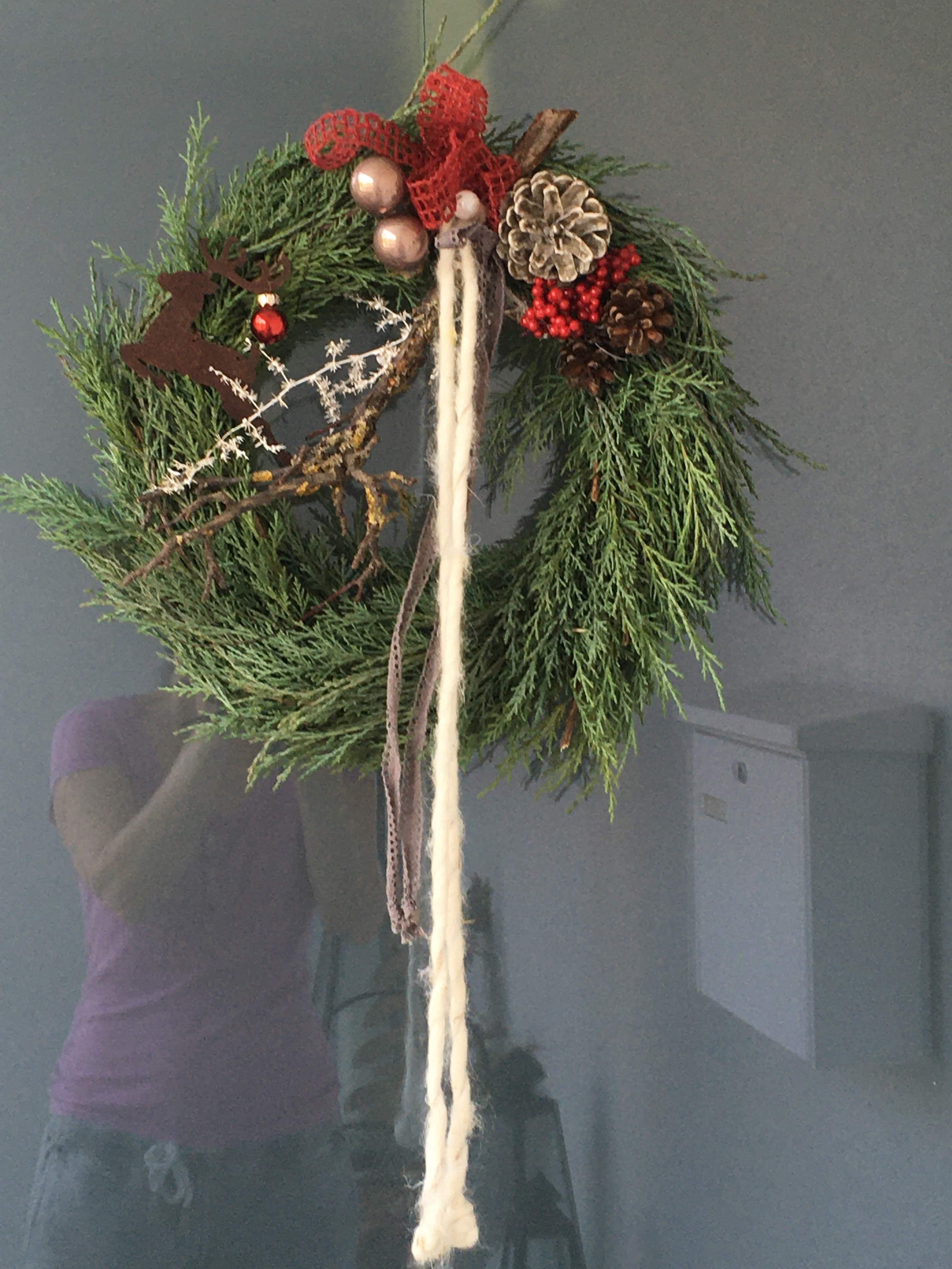 Türkranz für die Weihnachtsstimmung